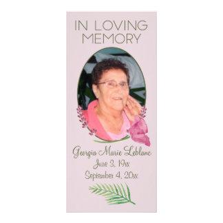 Custom Watercolor Lavender Memorial Keepsakes Full Colour Rack Card