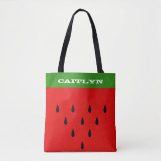 Custom Watermelon Tote Bag with Your Name