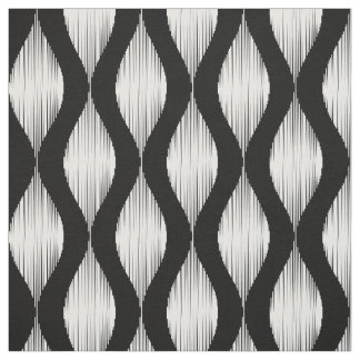 Custom wavy Ikat pattern fabric DIY textile print