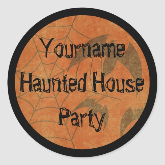 Custom Web Vintage Haunted House Sticker
