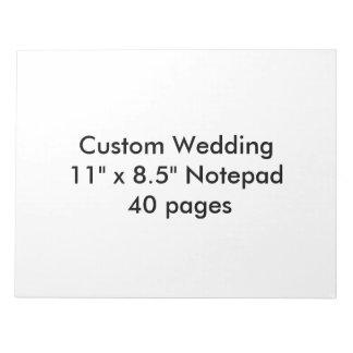 "Custom Wedding 11"" x 8.5"" Notepad Blank Template"