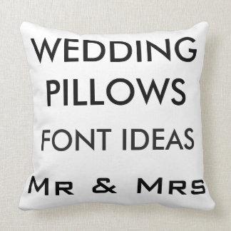 "Custom Wedding 20"" Cotton Throw Pillow GOTHIC MED."