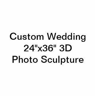 "Custom Wedding 24""x36"" 3D Photo Sculpture"