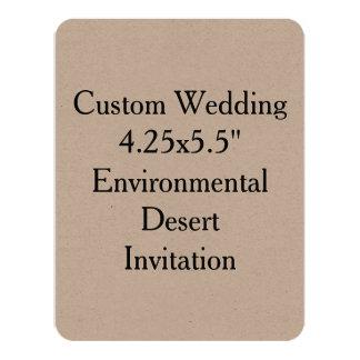"Custom Wedding 4.25"" x 5.5"" Kraft Invit 4.25"" X 5.5"" Invitation Card"