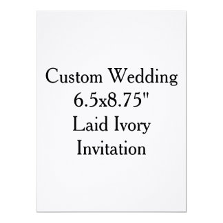 "Custom Wedding  6.5x8.75""  Laid Ivory Invitation"