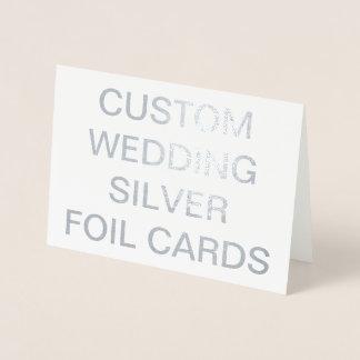 Custom Wedding 7x5 Personalized Silver Foil Cards