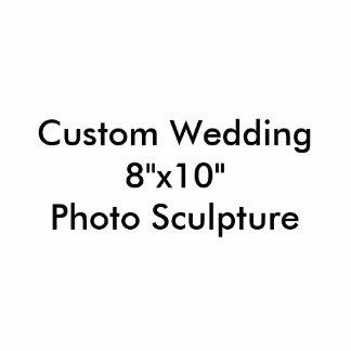 "Custom Wedding 8""x10"" Photo Sculpture Template"