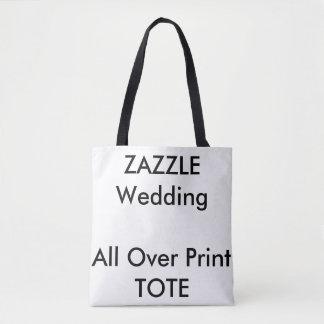 Custom Wedding ALL OVER PRINT Tote Bag MEDIUM