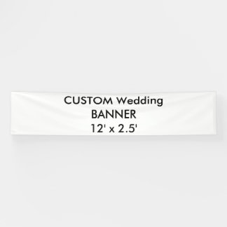 Custom Wedding Banner 12' x 2.5'