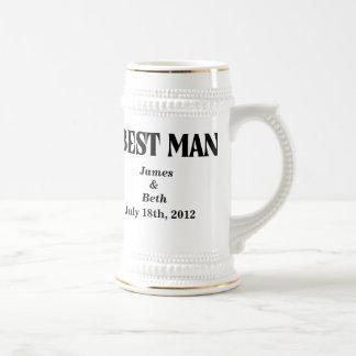 Custom Wedding Best Man Beer Stein