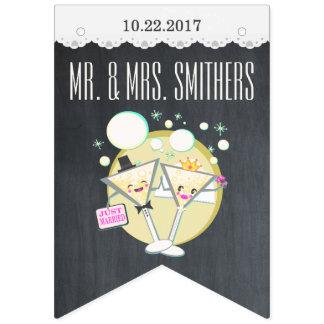 Custom Wedding Bridal Chalkboard Bunting Banner