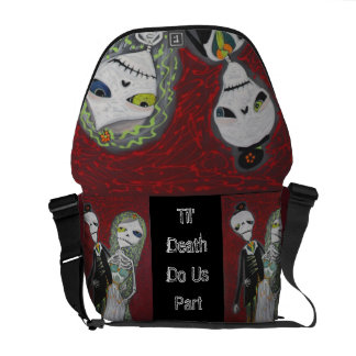 Custom Wedding Couple / Married Dead Rickshaw Mess Messenger Bag