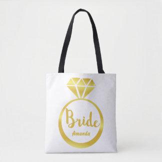 Custom wedding diamond tote bag