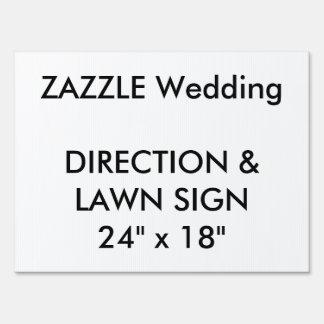 "Custom Wedding Direction & Lawn Sign 24"" x 18"""