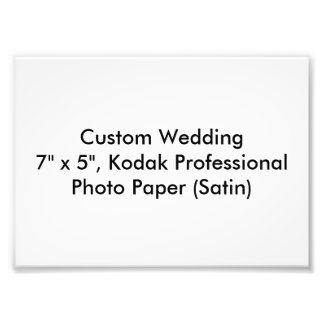 Custom Wedding Favor Photo Print