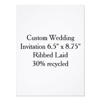 "Custom Wedding Gift Invitation to personalize 6.5"" X 8.75"" Invitation Card"