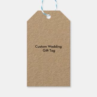 Custom Wedding Gift Tags Kraft Pack Of Gift Tags