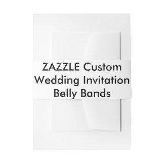 Custom Wedding Invitation Belly Bands Wraps Invitation Belly Band