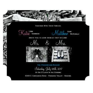 Custom Wedding Invitations - Add your own photos!