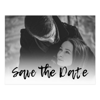 Custom Wedding Invitations - Cursive Save the Date Postcard