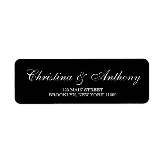 Custom Wedding Monogram Return Address Labels