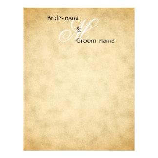 Custom Wedding Monogram Vintage Style Letterhead