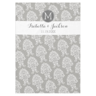 Custom Wedding Photo Backdrop Bride Groom Monogram Tablecloth