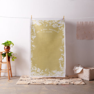 Custom Wedding Photo Backdrop Mr & Mrs Gold Bokeh
