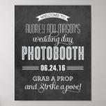 Custom Wedding Photo Booth Sign | Black Chalkboard Poster