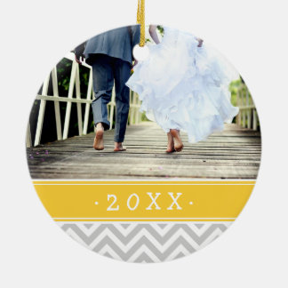 Custom Wedding Photo Keepsake Holiday Ornament