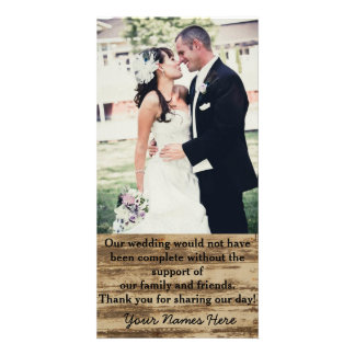 Custom Wedding Photo Thank you Cards Customized Photo Card