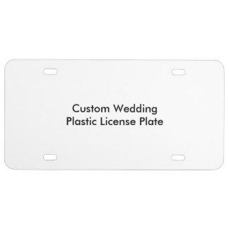 Custom Wedding Plastic License Plate