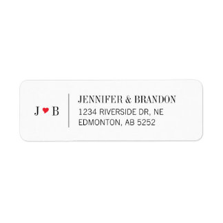 Custom Wedding Return Address Label