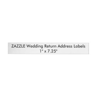 "Custom Wedding Return Address Labels 1""x7.25"" (24) Wraparound Return Address Label"