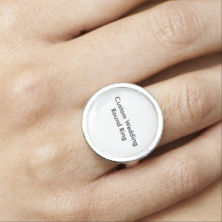Custom Wedding Round Ring