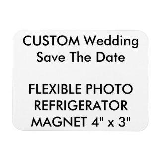 Custom Wedding Save The Date Photo Fridge Magnet