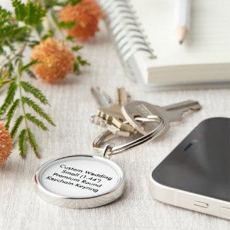 "Custom Wedding Small 1.44"" Round Keychain Keyring"