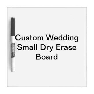 Custom Wedding Small Dry Erase Board
