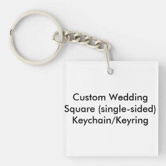 Custom Wedding Square singlesided Keychain Keyring