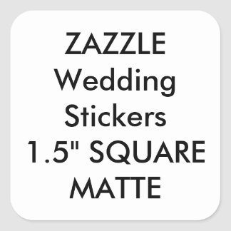 "Custom Wedding Stickers 1.5"" SQUARE MATTE (20 pk.)"