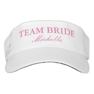 Custom wedding sun visor cap hats for team bride