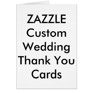 "Custom Wedding Thank You Cards 4"" x 5.6"" Note Card"