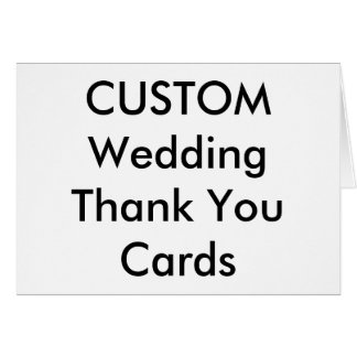 "Custom Wedding Thank You Cards 7"" x 5"""