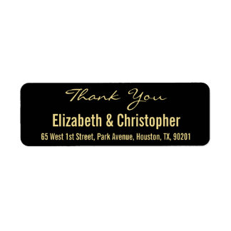 Custom Wedding Thank You Return Address Label