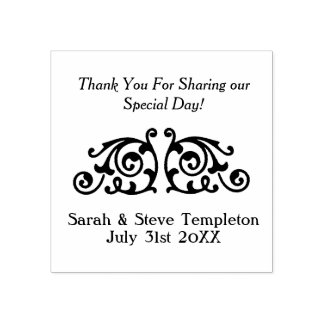 Custom Wedding Thank You Rubber Stamp