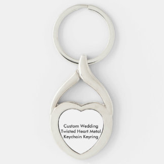 Custom Wedding Twisted Heart Keychain Keyring