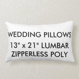 Custom Wedding Zipperless Polyester Lumbar Pillow