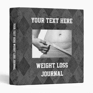 Custom Weight Loss Journal, Exercise Schedule Book Binder
