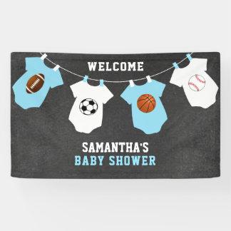 Custom Welcome Sports Theme BOY Baby Shower Banner