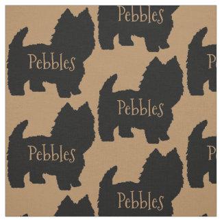 Custom Westie Dog or West Highland White Terrier Fabric